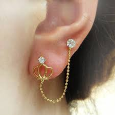 second earrings earring for second piercing beautify themselves with earrings