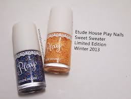 sovi u0027s nail journal etude house play nails sweet sweater limited