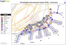philadelphia international airport map airport maps charts diagrams philadelphia international
