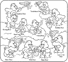 care bears coloring pages getcoloringpages