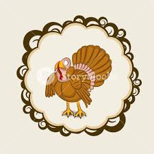 happy thanksgiving day with beautiful turkey bird in floral