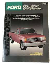 details about chiltons ford full size trucks repair manual 1987 93