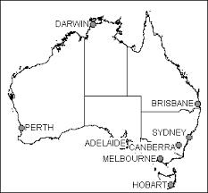 states australia map basic outline maps library