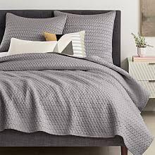 Monogrammed Coverlet Modern Quilts U0026 Coverlets West Elm