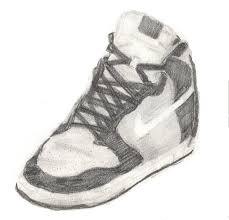 nike shoe tonal drawing by liangelkissesil on deviantart