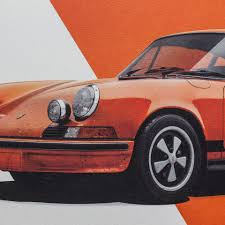 porsche 911 poster porsche 911 rs poster orange carrera automobilist