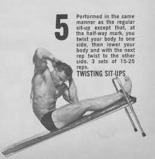twisting sit ups on decline bench abs routine irvin koszewski