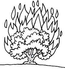 nice moses and the burning bush coloring page 5974 unknown