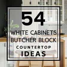 kitchen cabinet colors with butcher block countertops 54 white cabinets with butcher block countertops timeless