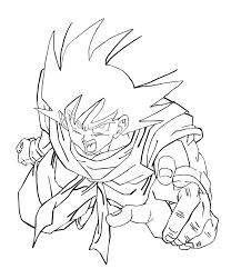 goku coloring free printable dragon ball coloring pages