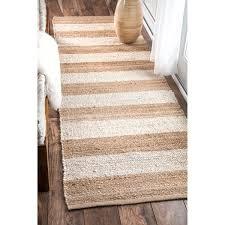 Flat Weave Runner Rugs Nuloom Handmade Flatweave Fiber Jute Thick Stripes Runner