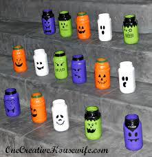 halloween tea lights one creative housewife painted halloween luminaries