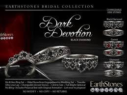 black box rings images Second life marketplace earthstones gothic wedding rings dark jpg