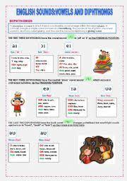 english teaching worksheets diphthongs