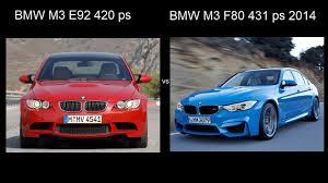 Bmw M3 Old - new bmw m3 f80 2014 vs bmw m3 e92 acceleration drag разгон
