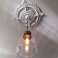 Light Fixture Ceiling Medallion by Ceiling Medallion With Glass Pendant Lighting Ceiling Medallions