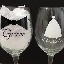 his and hers glassware best 25 and groom glasses ideas on