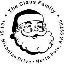 classic santa return address st simply sts