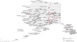 alaska major cities map map of alaska cities alaska road map