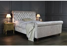 Velvet Sleigh Bed Grey Velvet Sleigh Bed 5927 Westheimer Houston 713 783 1500