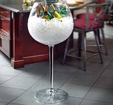 unique shaped wine glasses the wine glass cooler is an shaped like a