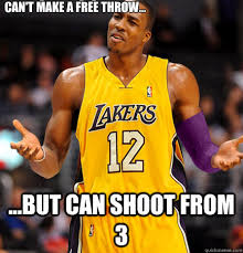 Dwight Howard Memes - can t make a free throw but can shoot from 3 dwight howard
