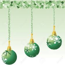 decorations illustrated with garland each ornament