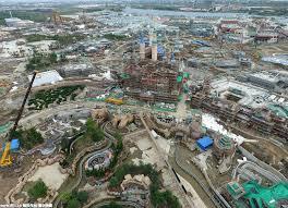 shanghai disneyland update new aerial pics sdl park map
