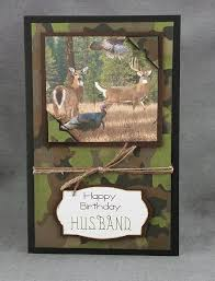 handmade happy birthday camouflage husband by craftygalcards my