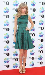 taylor swift dark green beaded cocktail party dress teen awards