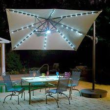 Patio Umbrellas With Led Lights Solar Powered Patio Umbrella Ebay