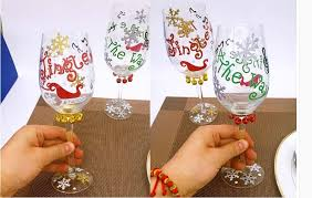 patterns painted tree wine glasses wholesale