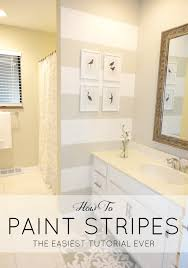 Ideas For Painting Bathroom Walls Livelovediy How To Paint Stripes The Easiest Tutorial