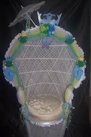 Decorated Baby Shower Chair Decorated Chairs Kimkizzies