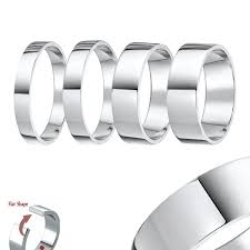 plain white gold wedding band 18 carat white gold rings and plain classic wedding bands elma
