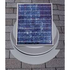 24 watt solar attic fan
