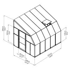 Palram Harmony 6 X 8 Rion Sunroom Kit 8 X 10 Clear Acrylic Panels Palram Greenhouse Store