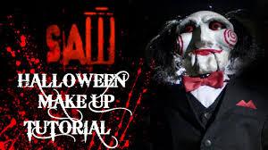 Jigsaw Halloween Makeup Halloween Makeup Tutorial Poraccio Saw Billy The Puppet Youtube