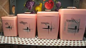 vintage tin kitchen canisters metal decorative canister sets from