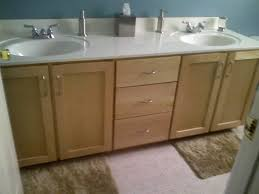 Kitchen Cabinet Doors Refacing by Refacing Bathroom Cabinets Before After Refacing Bathroom