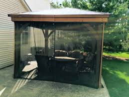 Outdoor Gazebo With Curtains Insect Screens Yardistry Gazebo Curtains For Mosquito Netting