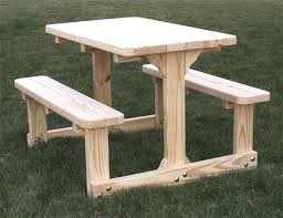 picnic table with separate benches picnic bench plans guideable co