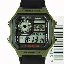 World Map Watch Casio Ae 1200whb 3bv Sport Digital World Map Watch G Shock Ebay