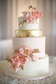 pink white gold wedding cake a soft pink white and burnished gold wedding cake with
