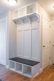 Built In Bench Mudroom I Built A Mudroom Bench And Storage Finish 2016 On A High Note