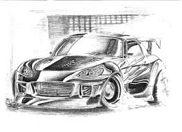 coloring pages drifting cars honda s2000 drifting cars colouring page colouring