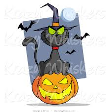 free jack o lantern clipart royalty free vector critter clipart of a evil black cat wearing a