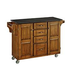 Kitchen Island Black Granite Top Home Styles 9100 1064 Create A Cart 9100 Series