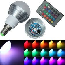 e14 3w ir remote control 16 color change rgb led ball bulb 85 265v