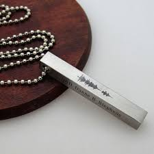 custom engraved necklace pendants sound wave pendant necklace custom engraved soundwave